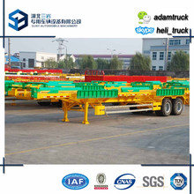 40ft Terminal frame container trailer 2 lines 4axles Port Tractor Container Skeleton Semi Trailer