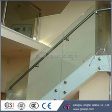 safety tempered laminated glass stairs balustrades / glass railing