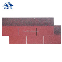 factory price 3-tab red shingles colors