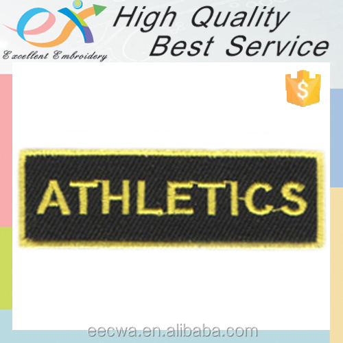 factory manufacture sew-on embroidery patch letters