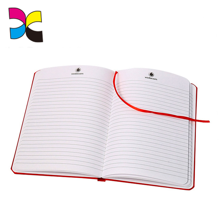 metallic hardcover notebook printing luxury red note book with an elastic