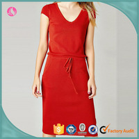 Super Trendy design enthusiastic red top quality cheap ladies dress wholesale