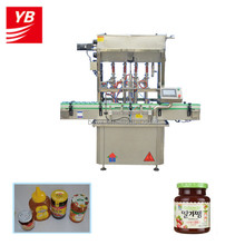 shanghai factory YB-JG4 automatic sauce cans bottles filling machine price 0086-18321989150