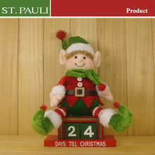 table decorative stuffed xmas sanra claus snowman sitting 2pcs wooden advent calendar drawers