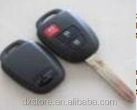 Without logo 2+1 button remote key blank with TOY43 blade for toyota key shell Toyota car key shell