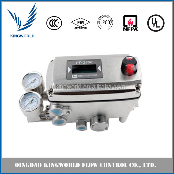 YTC Pneumatic Control Valve with Positioner Electro Pneumatic Positioner