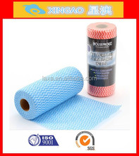 High quality spunlace disposable nonwoven microfiber household clean cloth