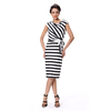 Fashion Woman Latest Dress Design Stripped Casual Dress For Women