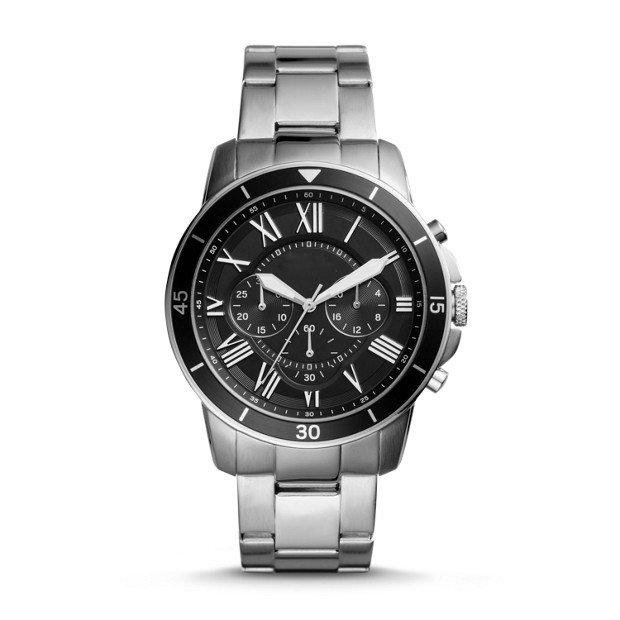 2017 luxury brand OEM multifunctional 6 hands chronograph stainless steel back watches for men