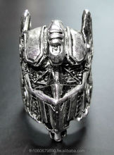 New Fashion movie vintage style Transformers optimus prime pewter rings jewelry Unique autobot For mens Biker Flim theme