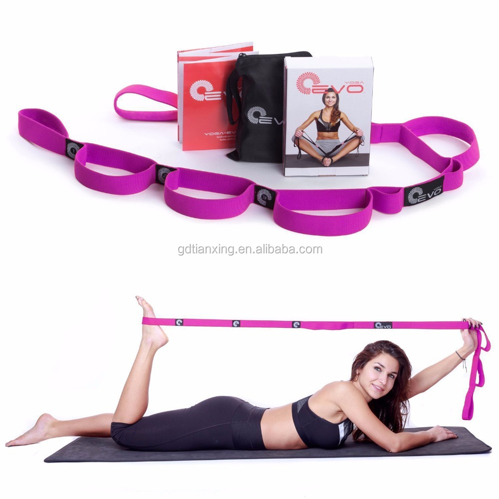 Yoga Pilates Workout Exercise Rope Crossfit Strap Resistance Bands with Loops