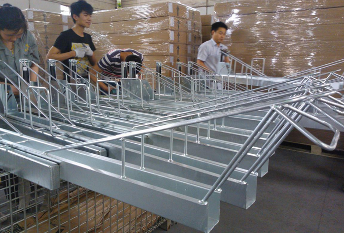Two tier Galvanized double deck bike rack/bicycle rack