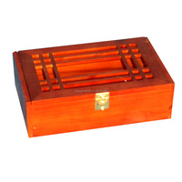 Hot sale unique luxury paulownia wood lacquered wooden wine box