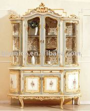european style hand painted furniture, display cabinet