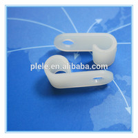 with screw plastic Cable Pipe Saddle one Hole wire Clamp
