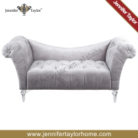 cheap price silver velvet new model sofa set sex sofa chair with acrylic legs