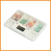 Electronic weekly medicine storage Vitamin Medicine Weekly Travel Organizer pill box timer
