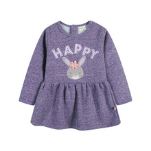 Spring Style long sleeve ruffle cotton baby girls dress frocks designs