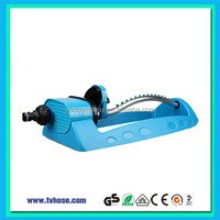 New fashion long time warranty home garden watering oscillating plastic sprinkler