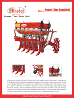 Power tiller operated seed planter machine