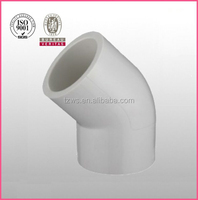 """HJ"" pvc plastic pipe fitting sch40 D2466 45 degree elbow"
