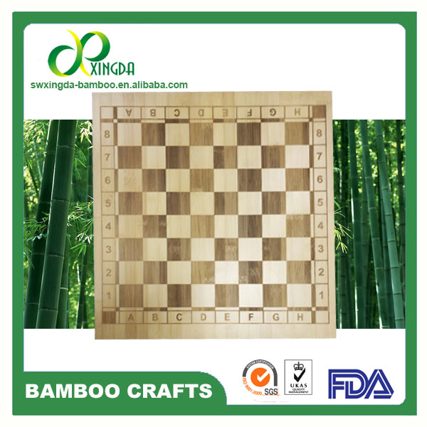 High quality natural bamboo chess game board with laser Where can i buy a chess game