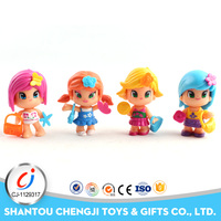 Hot popular plastic lovely 3 inch mini baby dolls with 20pcs
