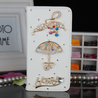 Free sample waterproof 3D umbrella Bling Bling crystal phone case cover for htc desire 620