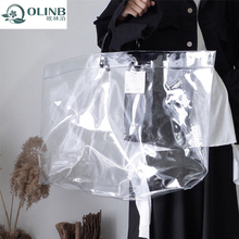 Hot Sale Custom Large Transparent Tote Beach Clear PVC Jelly Bag