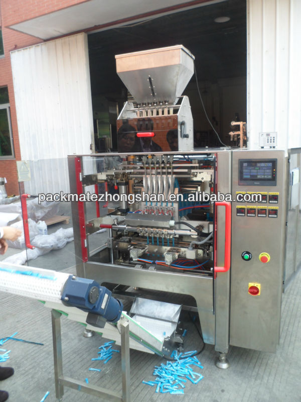 Single lane or high speed multi-lane stick bag Packaging machine for stevia,sugar,coffee,detergent,food,beverages,pharmaceutics