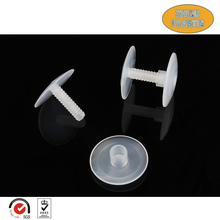 Wholesale and custom durabe and practical small transparent ABS plastic male and female screws and nuts