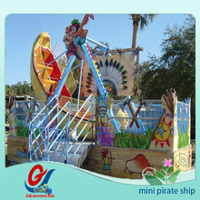 Park fun game for child toy rides amusement equipment Mini Pirate Ship for sale