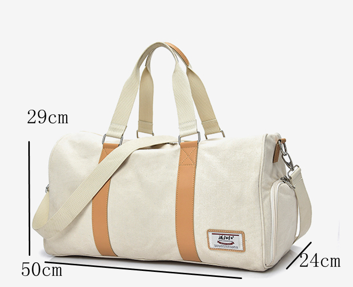 High quality unisex weekend travel shoudler bag sport gym canvas duffel bag