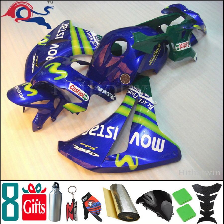 8Gifts+Tank cover+ blue movistar ABS cover 2008 2009 2010 2011 CBR1000RR motorcycle Fairing for Honda