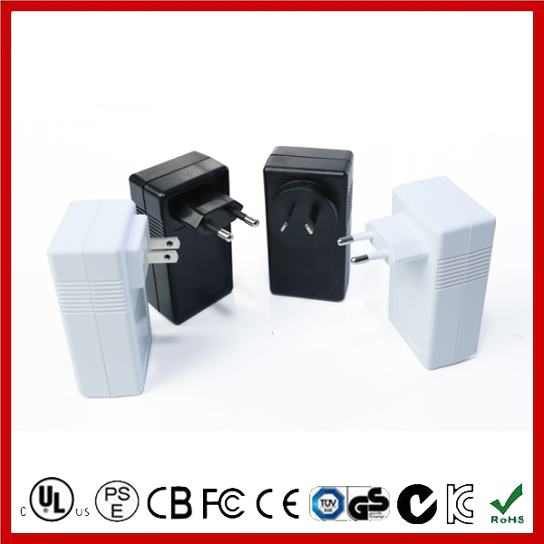 AC/DC 12V 3A Adapter 36W with Wall-Mount Type/Desktop Type, with Level VI Energy Efficiency