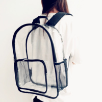 New Arrival Fashion Design Custom Clear PVC Women Backpack