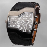 Mens Watches Top Brand Luxury Design Oulm Quartz Watch relogio masculino Leather Strap Vintage Antique Male Wristwatch