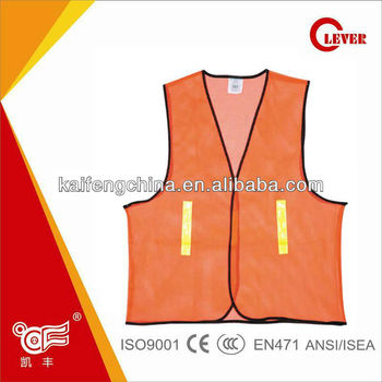 Hi Vis running cheap safetyvest with pockets KF-025