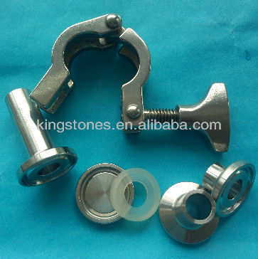sanitary clamp ferrule adapter stainless steel pipe fitting