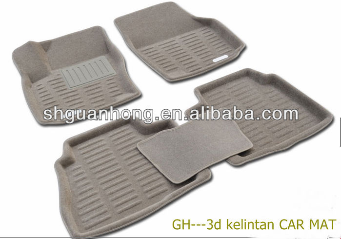 3D I&II seriescustomized High Temperature Assistant Velvet Surface Material Beige car mats with Dotted Cloth