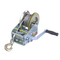 Manufacturer 2000lbs hand manual winch mechanical galvanized operated mechanical with cable
