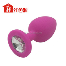 Clips Butt Toy Plug Anal Insert Silicone Plated Jeweled Rhinesto sex toy