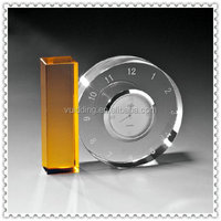 Cut Engraved Crystal Gear Clock For Business Gifts