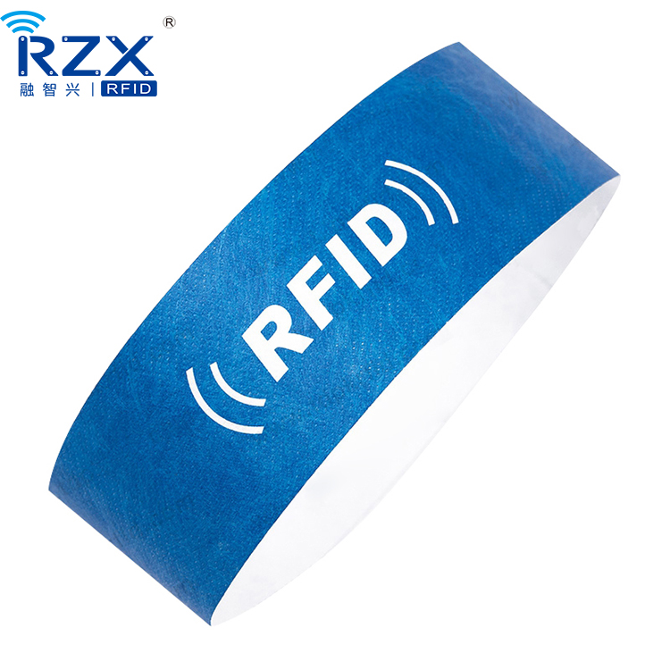TK4100 Disposible Customized Paper Rfid Wristband for Wholesale