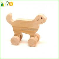 Antique Vintage Folk Art Hand Carved Wood Dog Figure Wooden Carving Dog