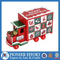 red wooden advent calendar truck christmas gifts for kids