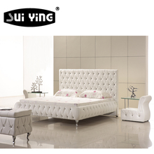 customized sizes China popular design leather bed C027