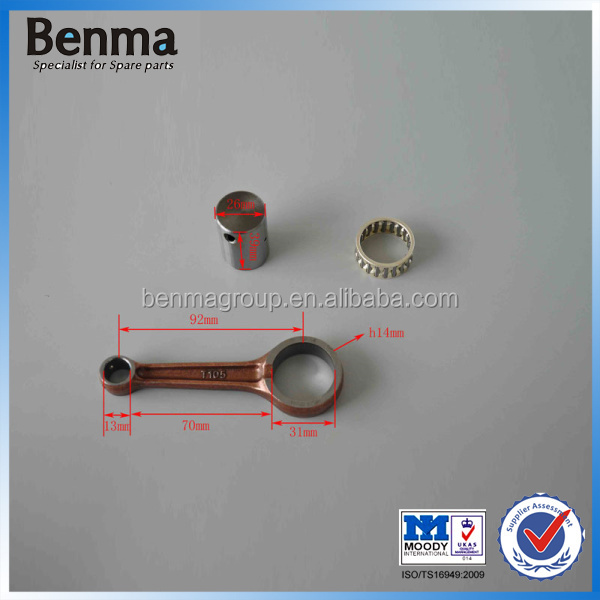 Motorcycle connecting rod in 20CR material,GY110 Connecting Rod Kit for motorcycle,connecting rod +bearing+ crank pin