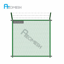 Wholesale decorative used chain link fence panels per sqm weight
