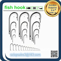 Hot sale high carbon steel AME RICAN KIRBY fishing hook with large stock
